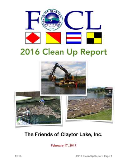 2016 Clean Up Report 1