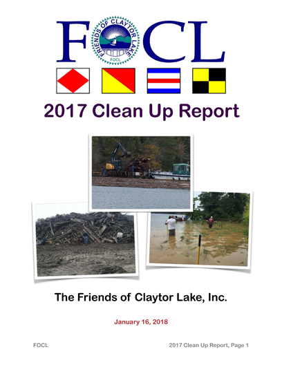 2017 Clean Up Report 1