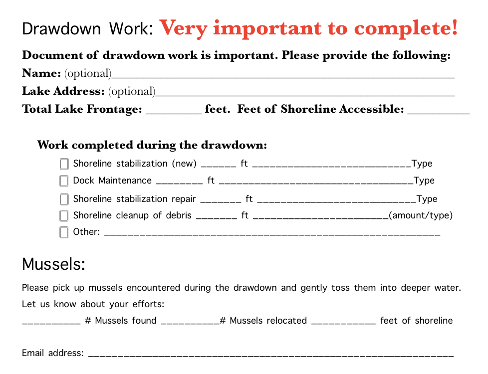 Drawdown Form